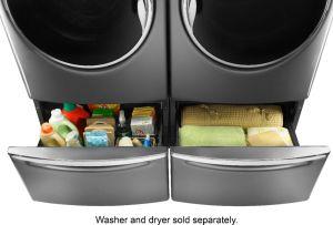 Washer/Dryer Laundry Pedestal with Storage Drawer