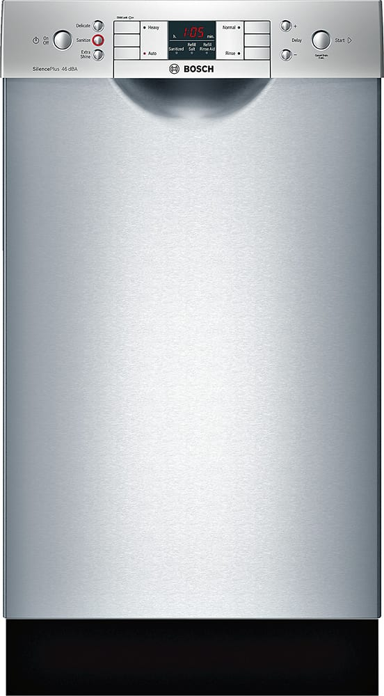 """300 Series 18"""" Front Control Tall Tub Built-In Dishwasher with Stainless-Steel Tub Stainless steel"""