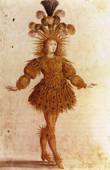 Costume for Apollo, played by Louis XIV, from Ballet de la Nuit, 1653