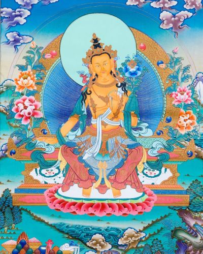 This image has an empty alt attribute; its file name is maitreya-buddha_tibetan.jpg
