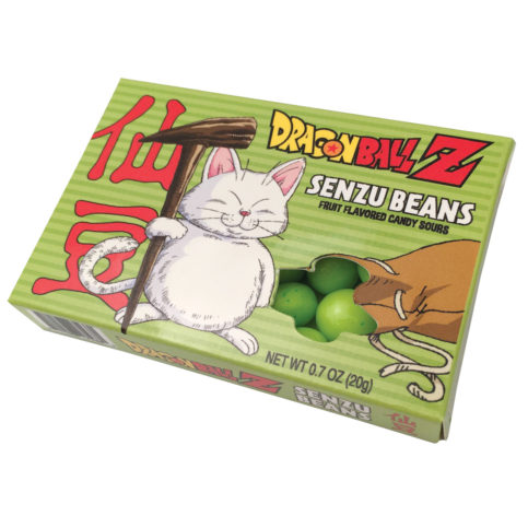 Dragon Ball Z DBZ Anime Senzu Beans Candy Sours In Illustrated Box of 12 SEALED