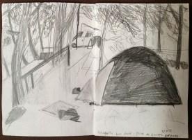Tent in Aranas campsite