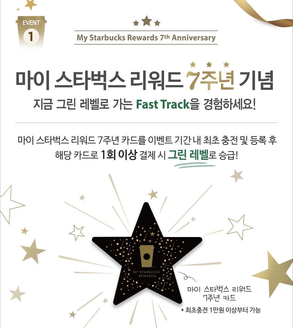 2018韓國星巴克星禮程7週年隨行卡 – 韓國星巴克代購