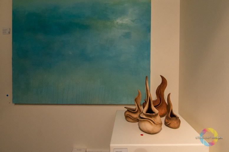 New paintings by John Carozza Featuring sculpture by Tanja Stark