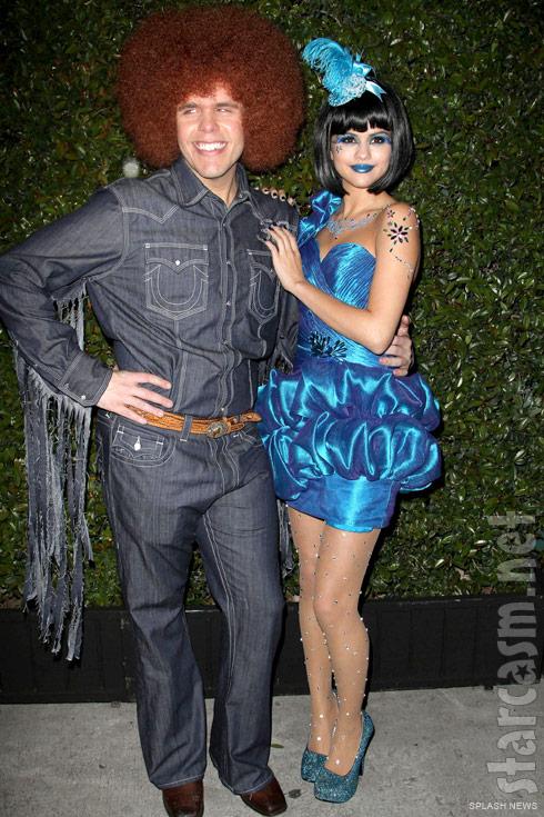Perez Hilton and Selena Gomez at his 33rd Blue Ball Birthday Celebration