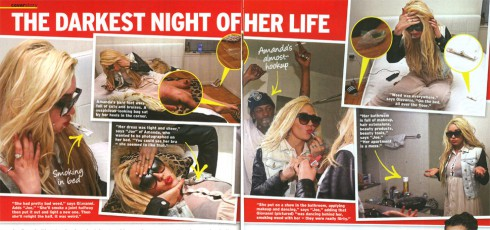 Photos from inside Amanda Bynes apartment from In Touch house party article