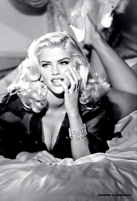 Anna Nicole Smith's Guess ads: beautiful, stunning, gorgeous