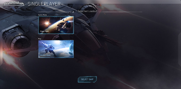 Arena commander singleplayer menu