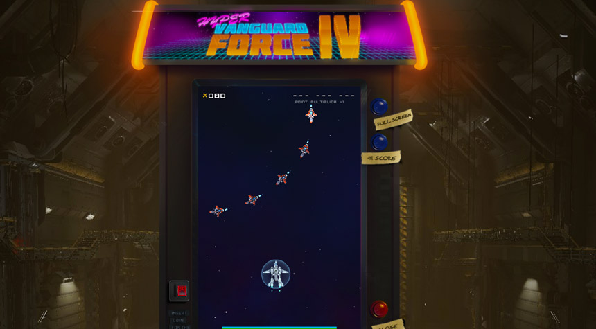 Hyper Vanguard Force mini game