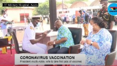 Photo of LIVESTREAMING: Akufo-Addo takes first jab of Coronavirus vaccine