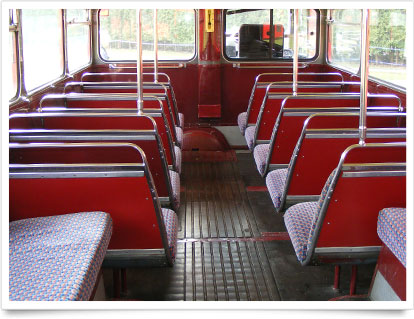 Historical Double-Decker Interior Seating.