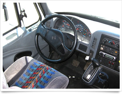 Mini Coach Interior Driver's steering.