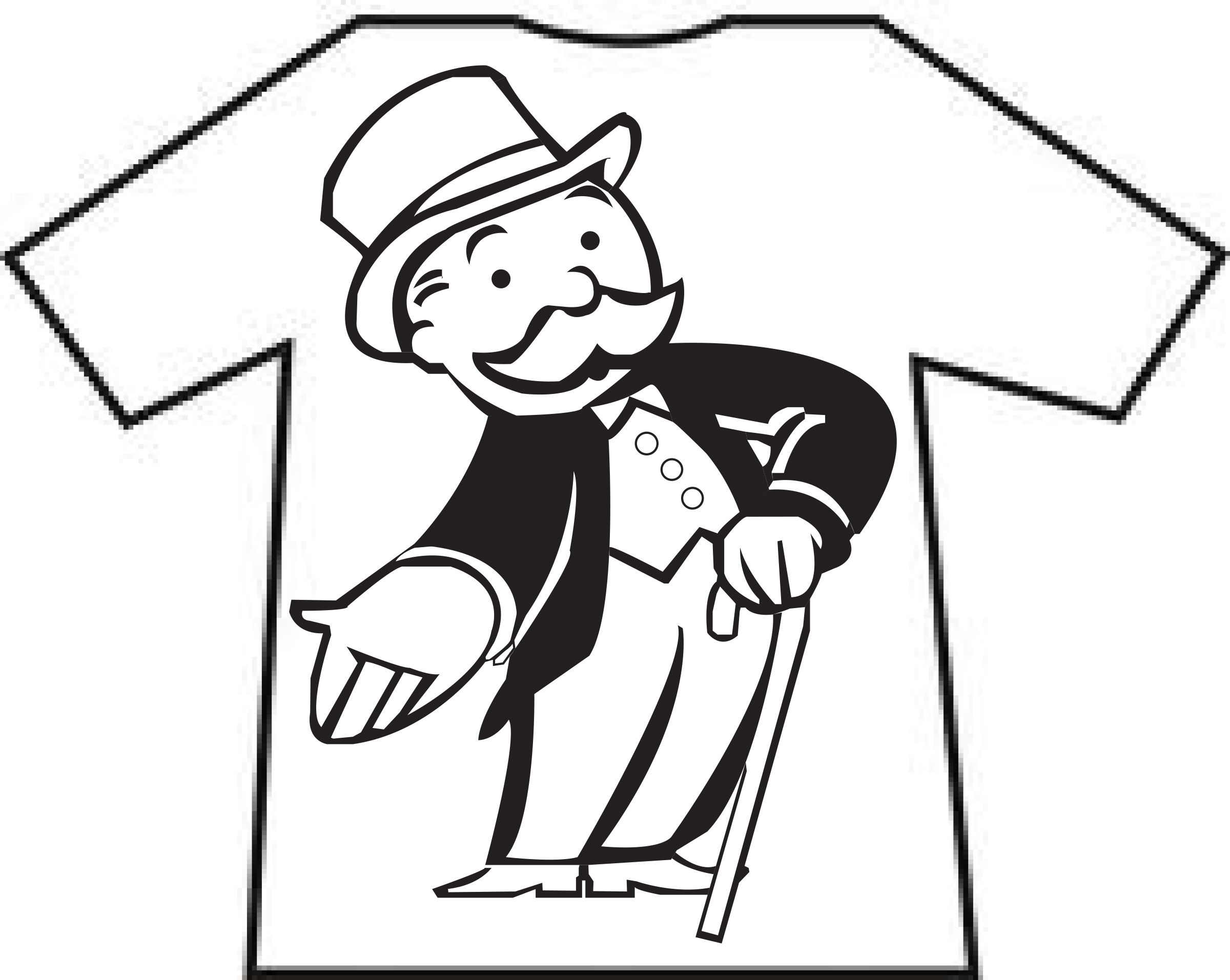 Monopoly Man Coloring Pages