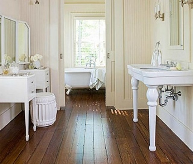 Wide Plant Wood Floor In A Victorian Bathroom Reproduction