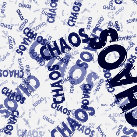 a chaos word cloud
