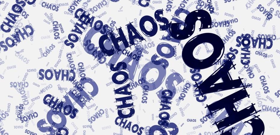 a chaos word cloud