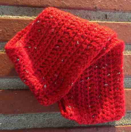 Sparkle Motion Ear Warmer Free Crochet Pattern For Beginners