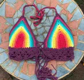 Rainbow Bikini Front