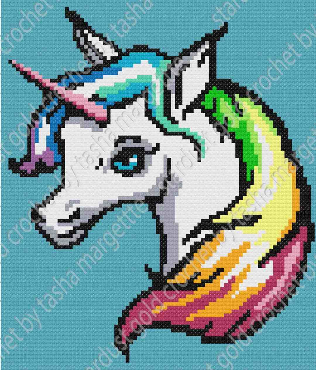 Unicorn Rainbow C2c Written Graph Pattern Whew My First Graphgan