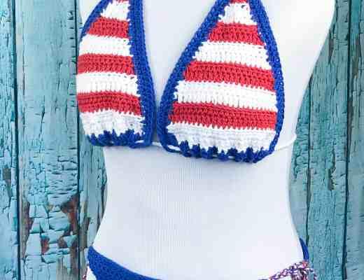 Free Crochet Bikini Pattern Stardust Gold Crochet