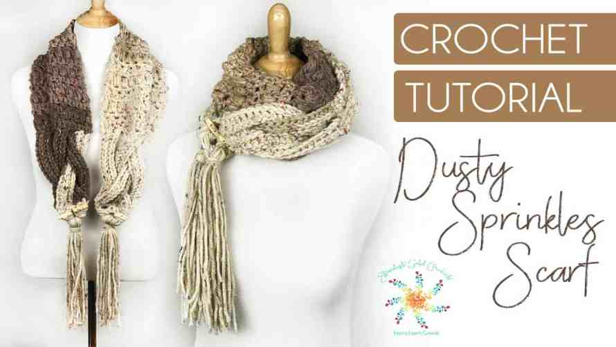 Dusty Sprinkles Scarf ~ FREE crochet pattern and video tutorial ...