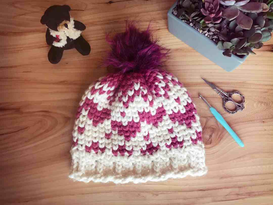 c065f093886 Country Hearts Chunky Beanie – Free Crochet Pattern – Stardust Gold ...