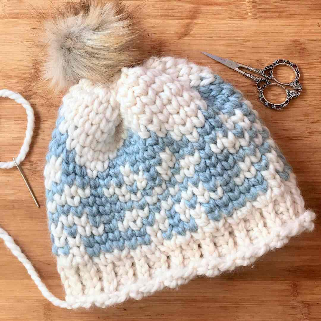 df2b396fc Ice Crystals Chunky Beanie – Wool-Ease Free Crochet Pattern ...