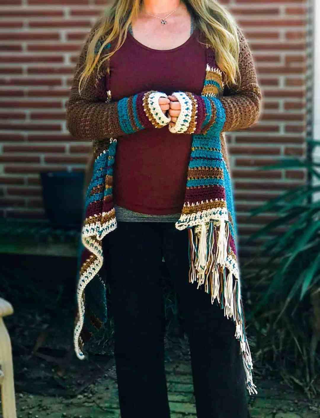 44cd5c54640b7f Navajo Inspired Blanket Cardigan