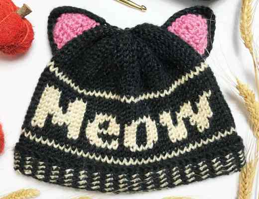 Meow Beanie by Stardust Gold Crochet