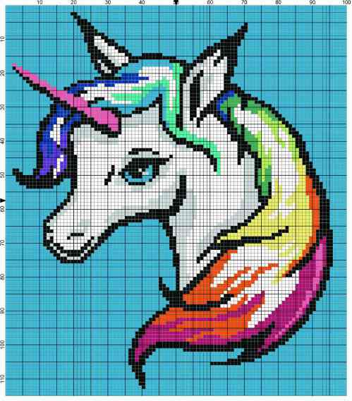 Rainbow Unicorn Graph by Stardust Gold Crochet