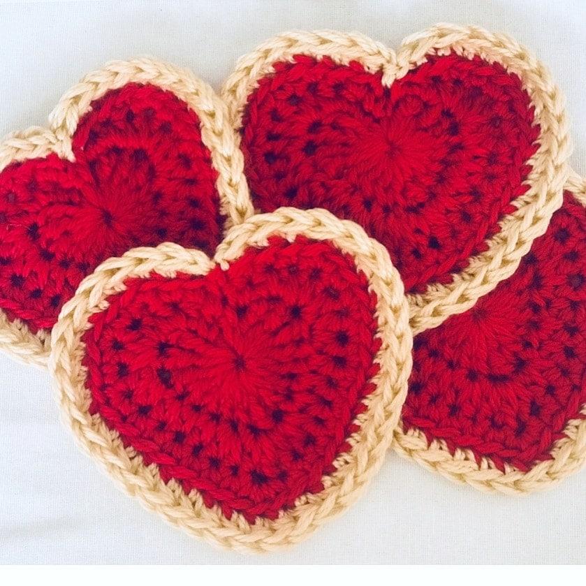 Valentine's Day Crochet Scarf by Stardust Gold Crochet