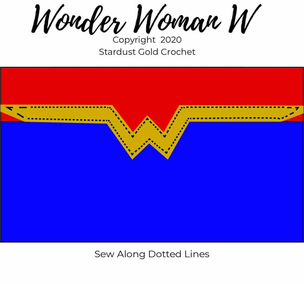 Wonder Woman Crochet Mask Assembly