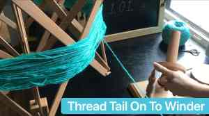 Yarn Ball Winder Tutorial Thread loose end on to winder