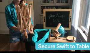 Yarn Ball Winder Secure Swift to Table