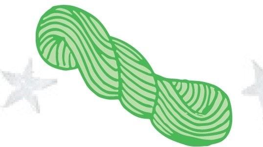 twisted hank of yarn