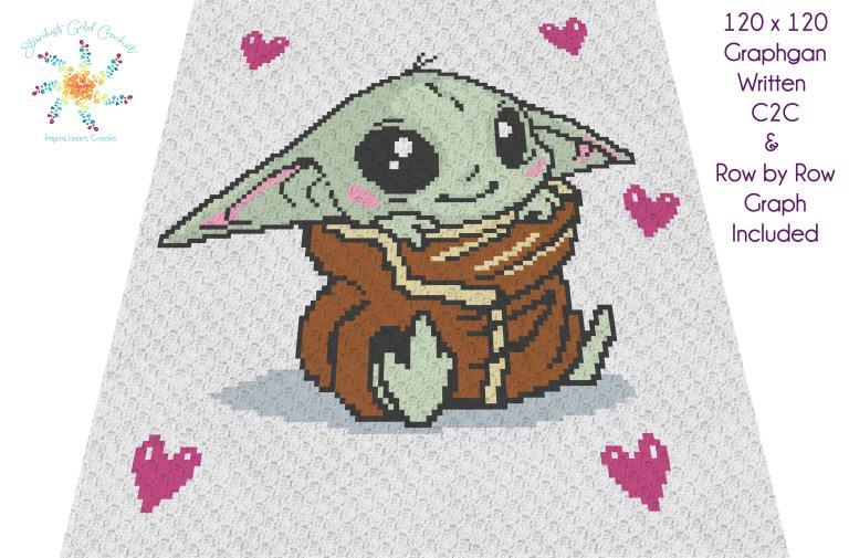 Baby Yoda The Child C2C Overlay