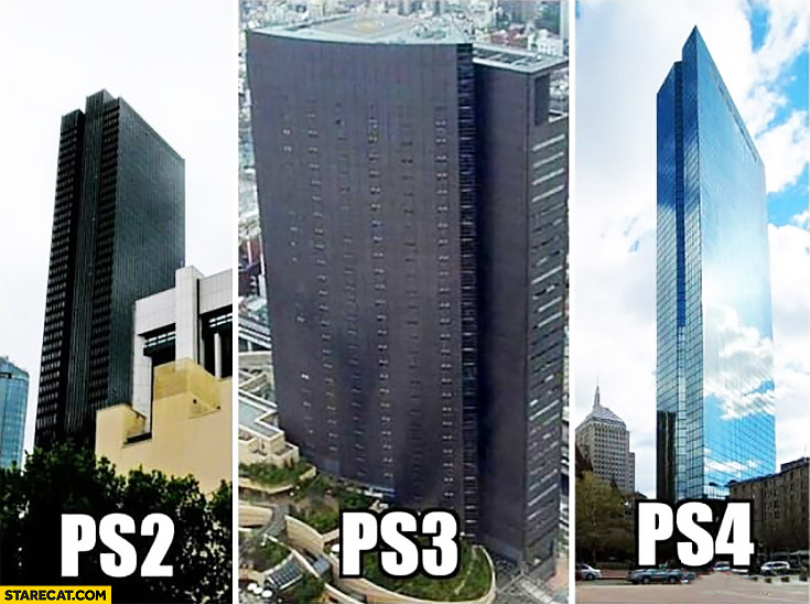 Building Looking Like PS Playstation Consoles Generations