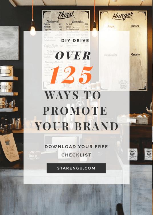 Starengu's 125 Ways to Promote Your Brand