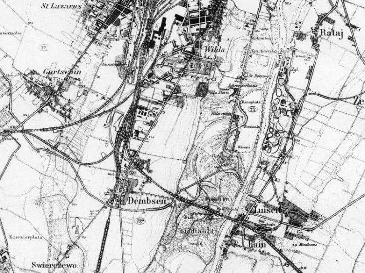 Mapa Poznań Południowy z 1919r.