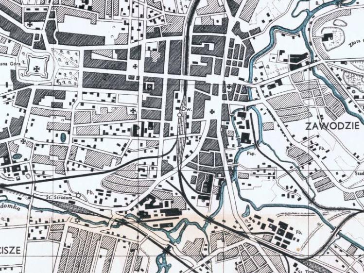 Plan Miasta Częstochowy z 1943r.