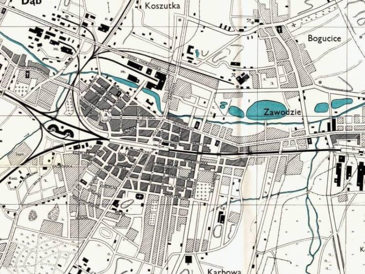 Plan Miasta Katowic z 1943r.