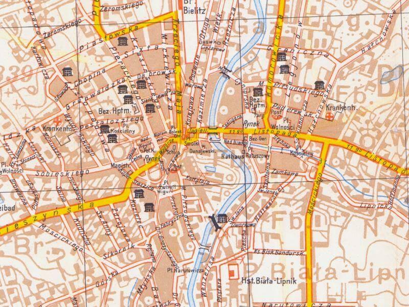 Plan Miasta Bielsko-Białej z 1939r.
