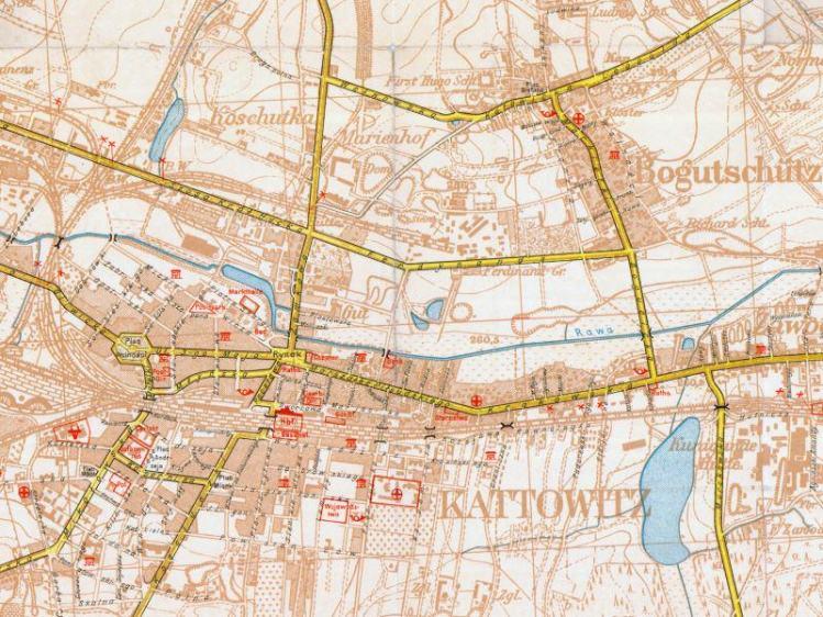 Plan Miasta Katowic z 1939r.
