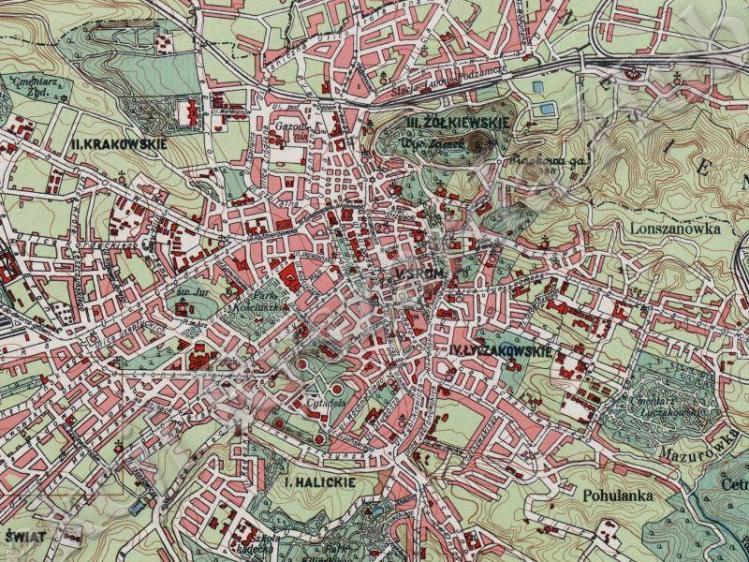 Plan Miasta Lwowa z 1932r.