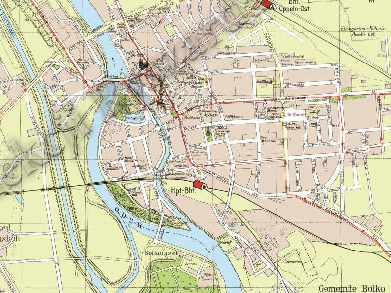 Plan Miasta Opola z 1938r.