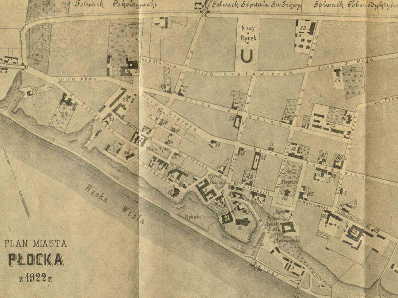 Plan Miasta Płocka z 1922r.