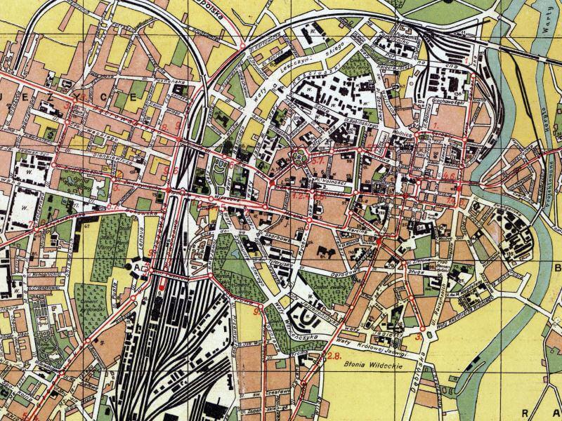 Plan Miasta Poznania z 1930r.