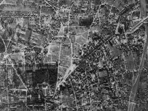 Zdjęcie lotnicze Białegostoku z 1944r.