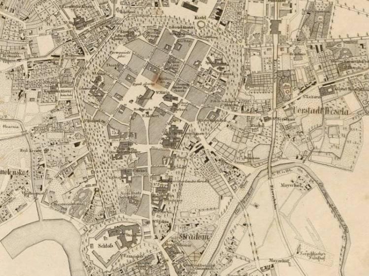 Plan Miasta Krakowa z 1855r.