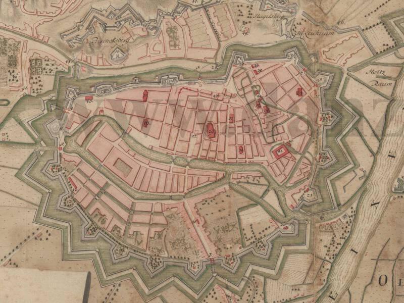 Plan Miasta Gdańska z 1711r.